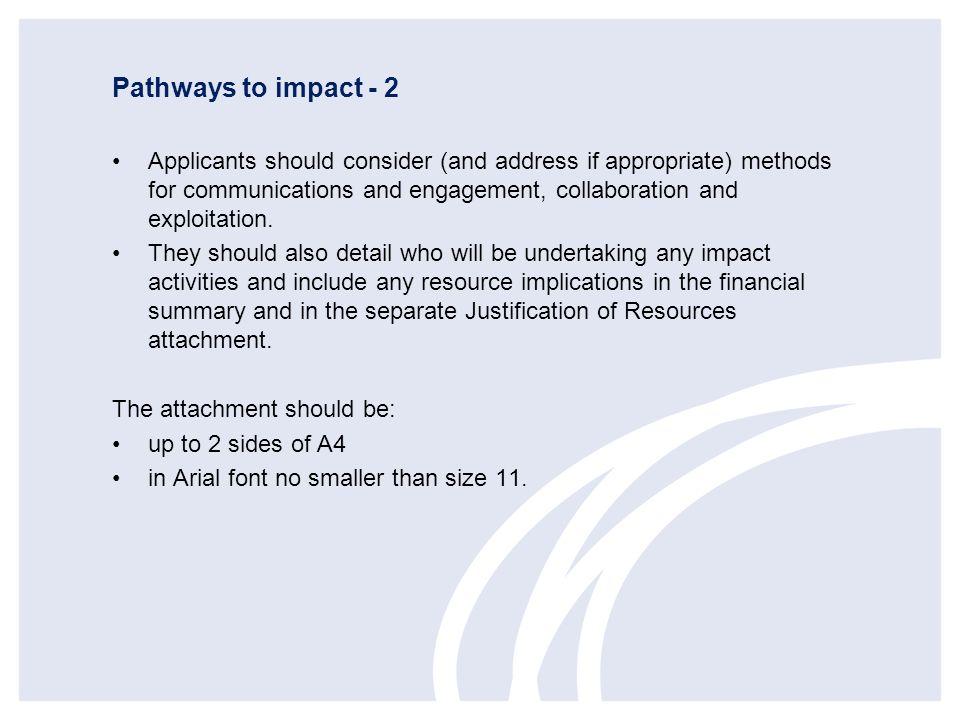 Pathways to impact - 2