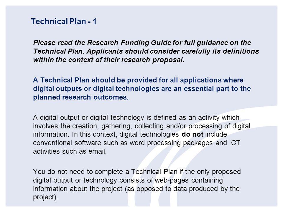 Technical Plan - 1