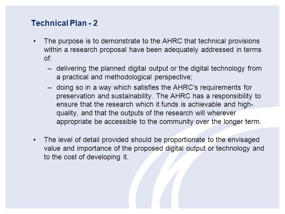 Technical Plan - 2