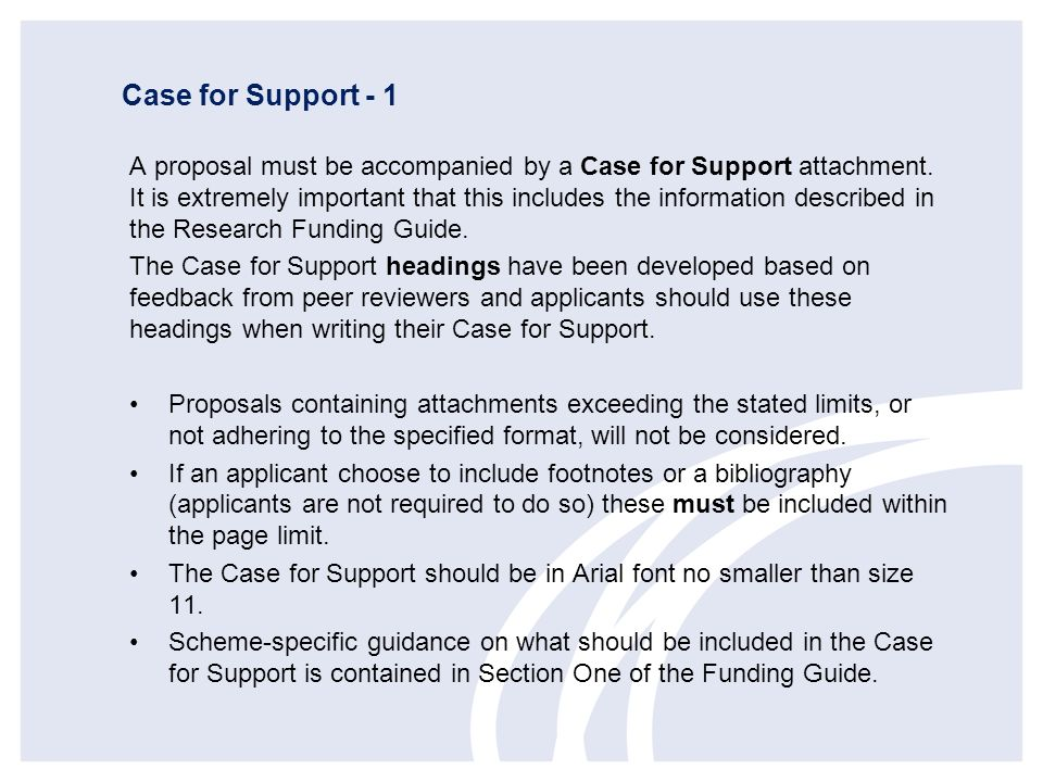 Case for Support - 1