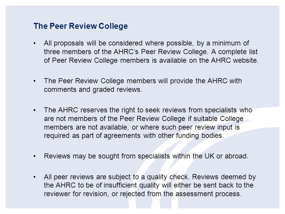 The Peer Review College