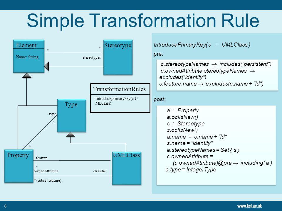 Simple Transformation Rule