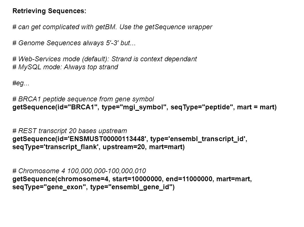 Retrieving Sequences: