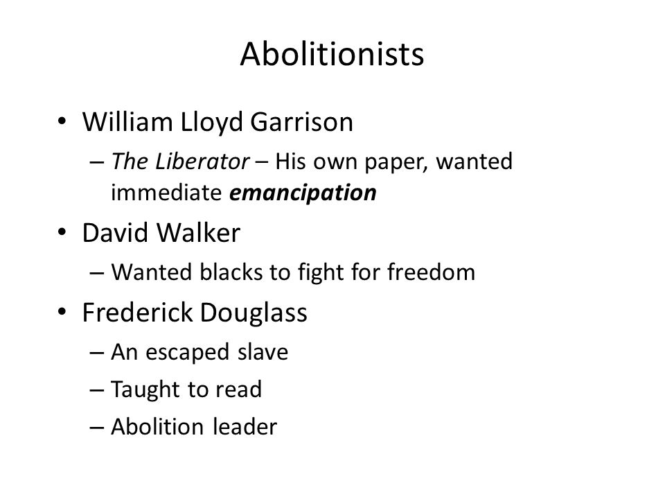 david walker vs frederick douglas Frederick douglass (born frederick pennsylvania, an anti-slavery stronghold, and continued to the safe house of noted abolitionist david ruggles in new york city.