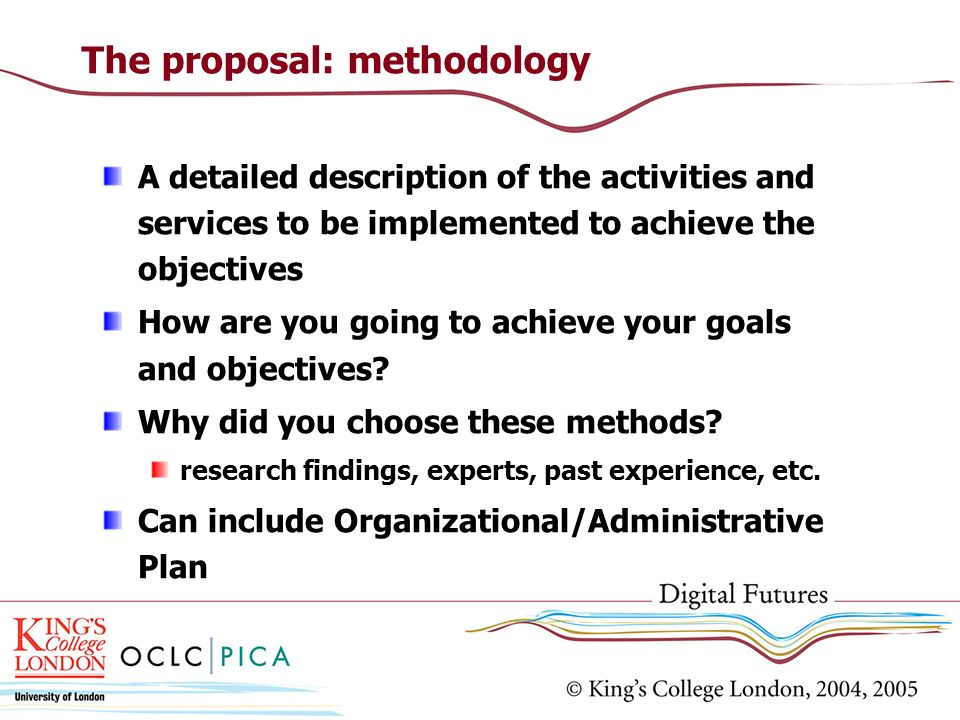 The proposal: methodology