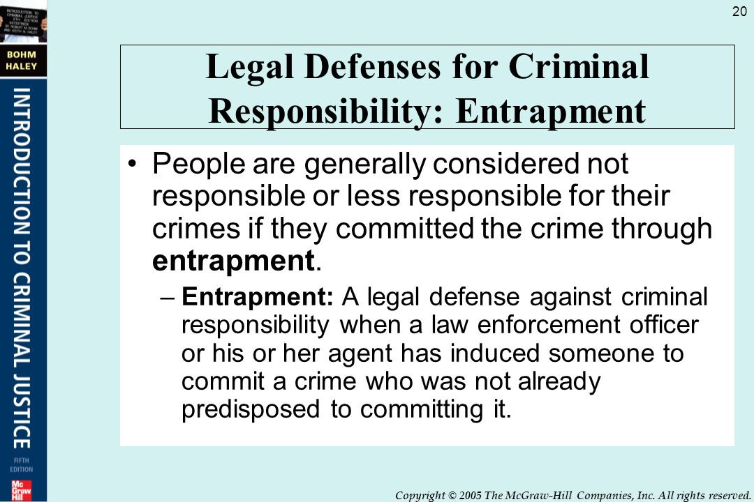 legal defenses in criminal law Title 11 crimes and criminal procedure notwithstanding any provision of law to the contrary, it is no defense for an offense or legal custodian or other.