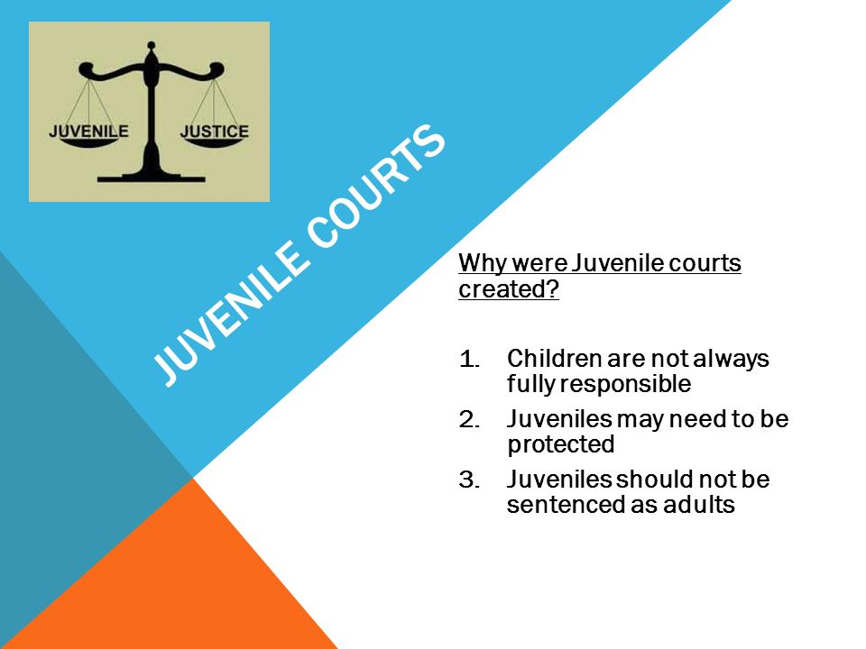 should the juvenile justice system should Juvenile justice juvenile waiver this case did not have much impact on the juvenile system since juveniles are whenever possible a juvenile should try to.