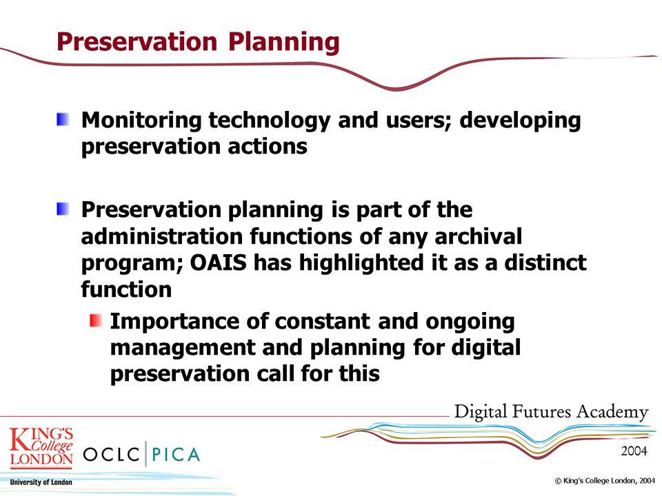 Preservation Planning