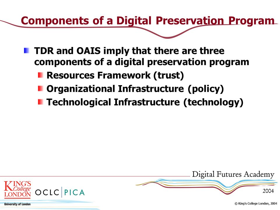 Components of a Digital Preservation Program