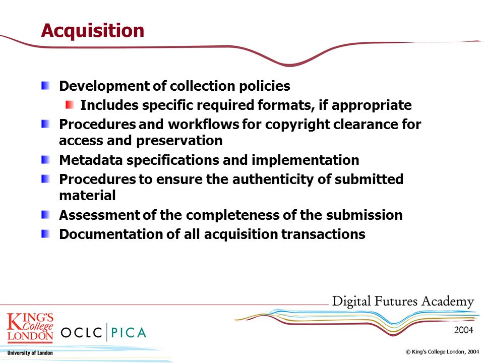 Acquisition Development of collection policies