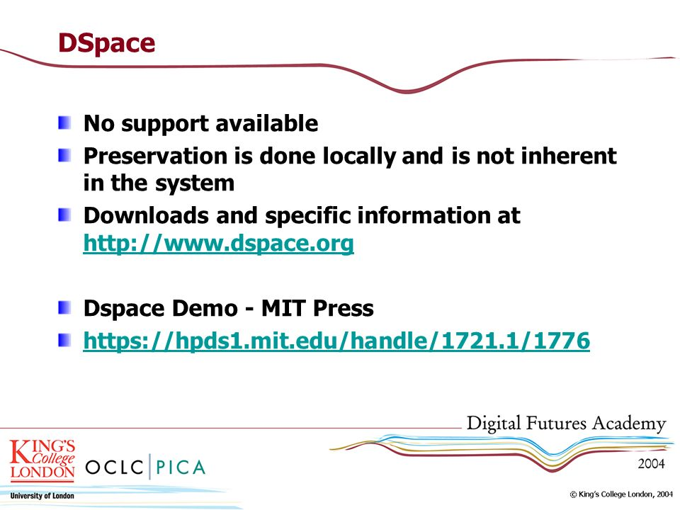 DSpace No support available