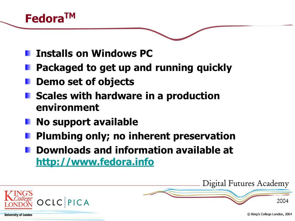 FedoraTM Installs on Windows PC Packaged to get up and running quickly