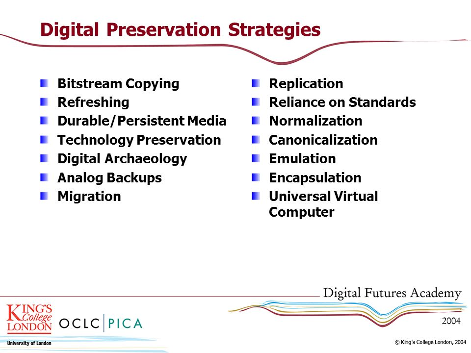 Digital Preservation Strategies