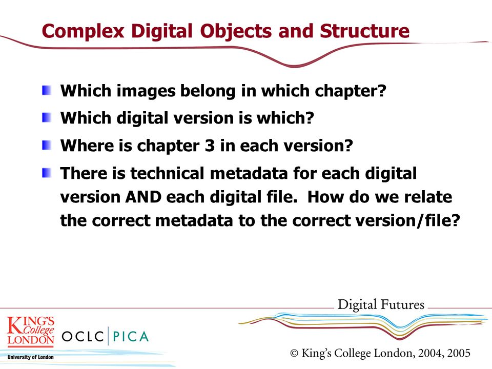 Complex Digital Objects and Structure