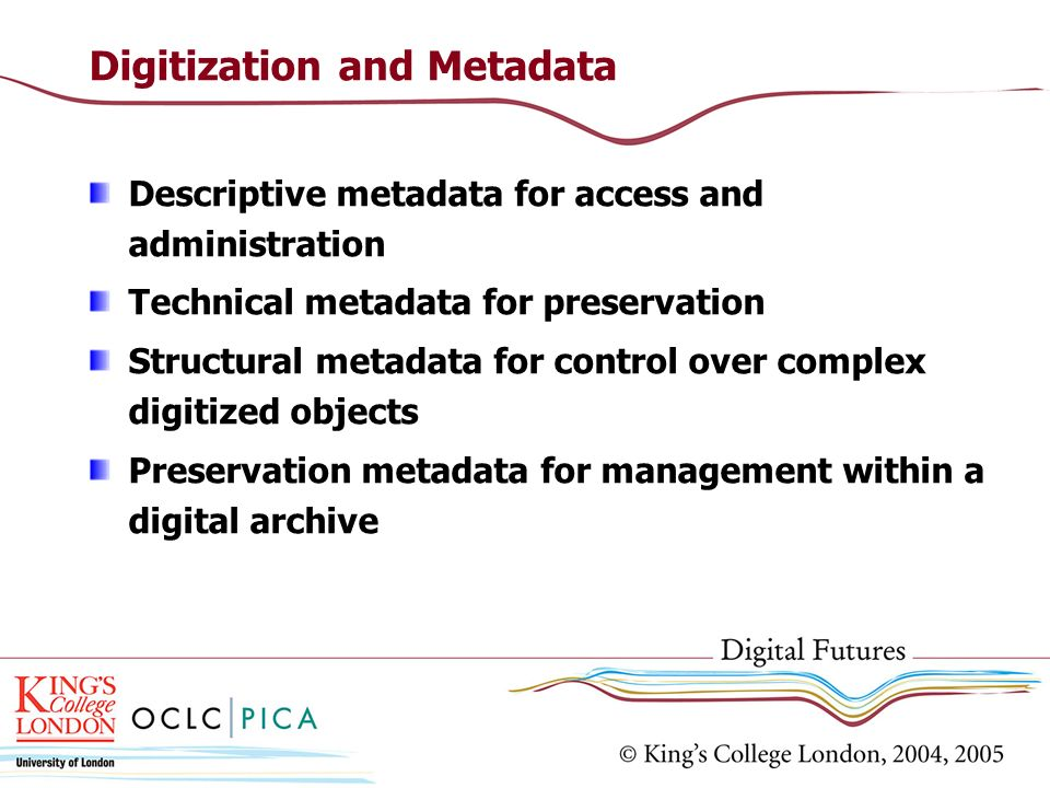 Digitization and Metadata