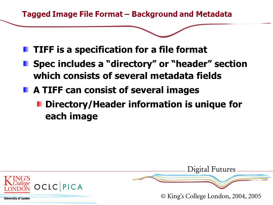 Tagged Image File Format – Background and Metadata