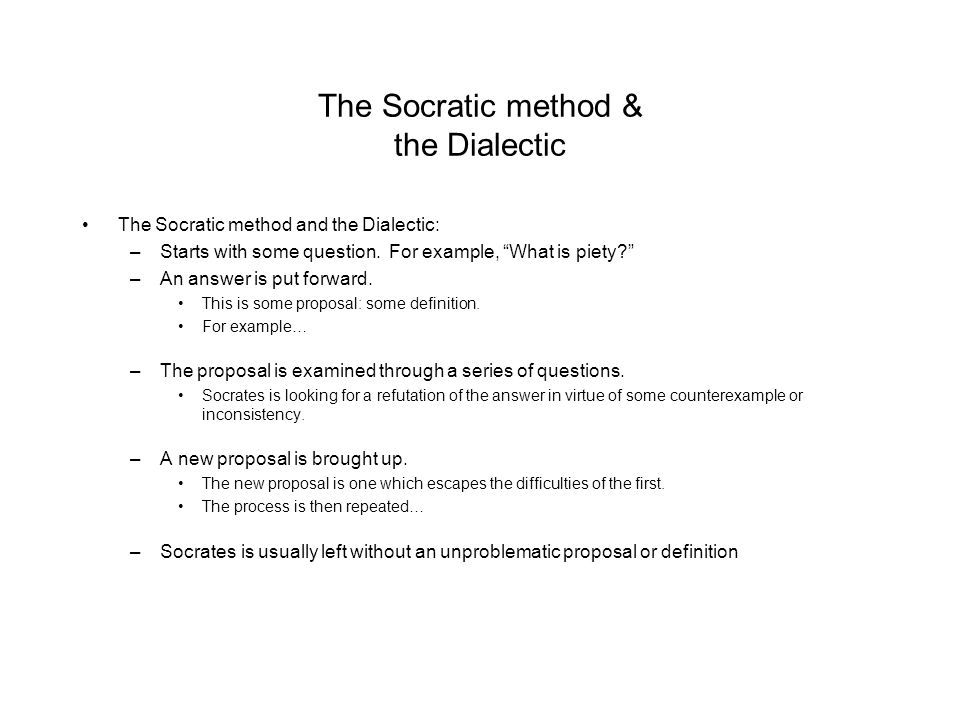 Socratic Dialectic Method And Piety Research Paper Academic Writing