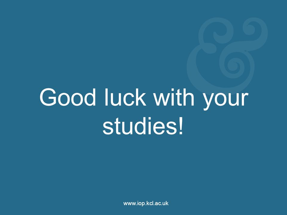 Good luck with your studies!