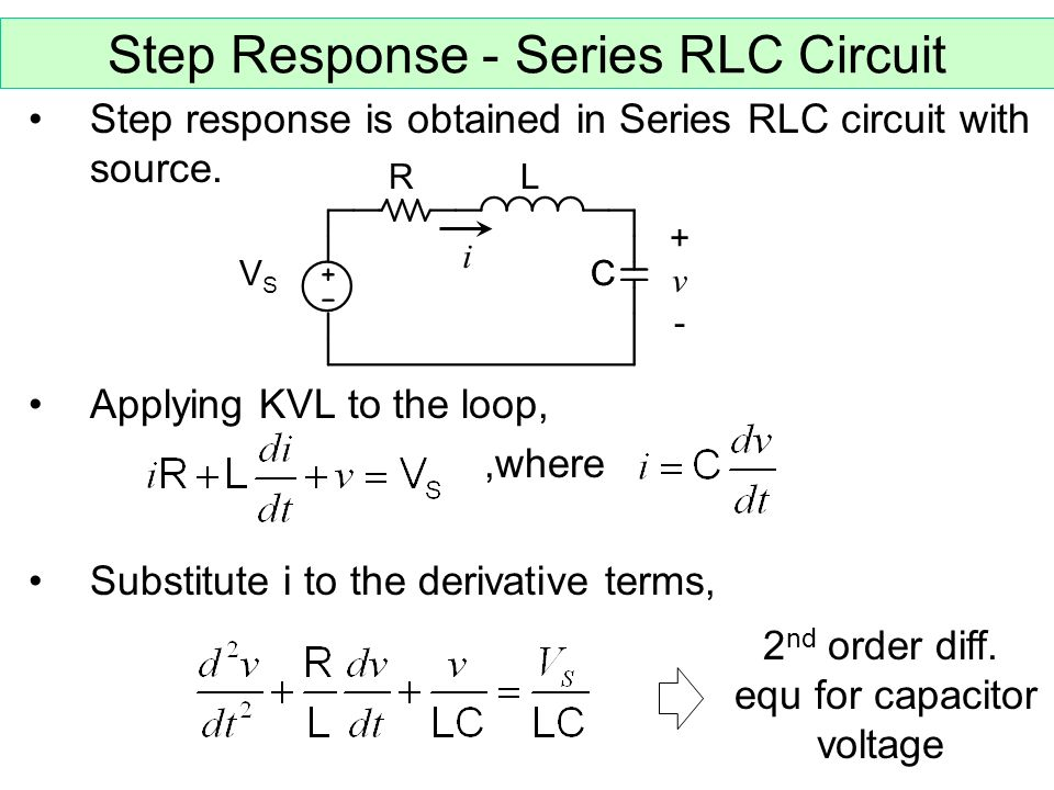 Parallel Rlc Circuit Applet Showing Step Response Frequency