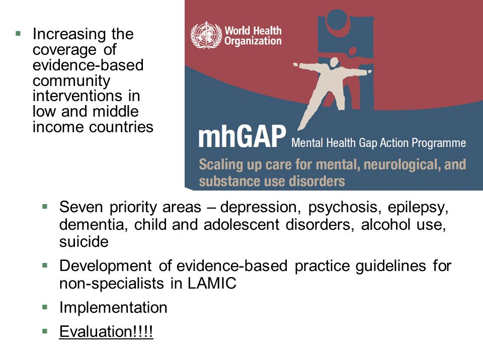 The WHO Mental Health Global Action Plan