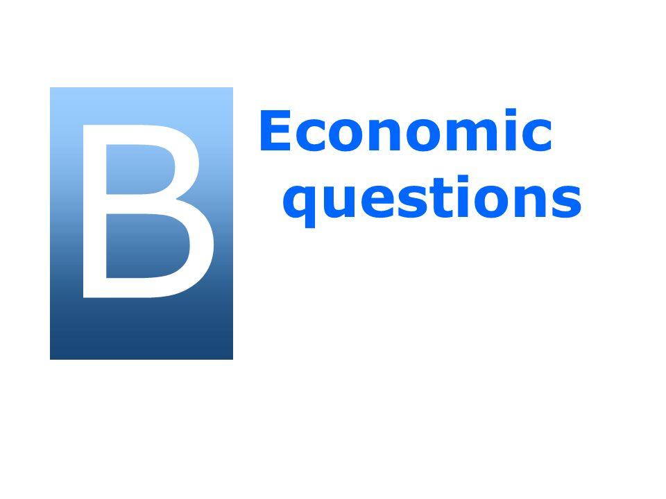 B Economic questions 11