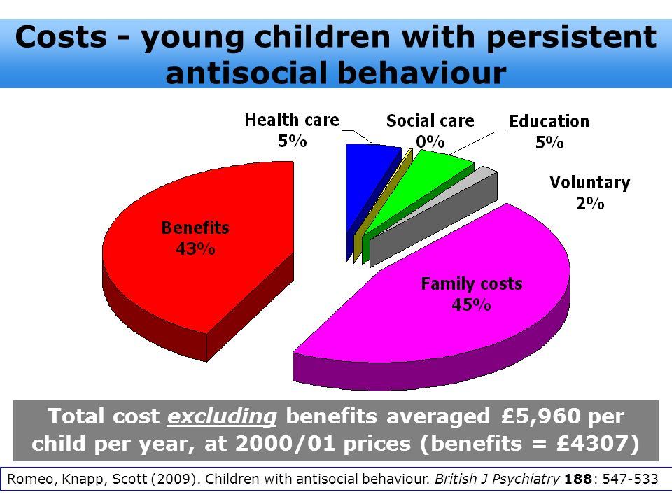 Costs - young children with persistent antisocial behaviour
