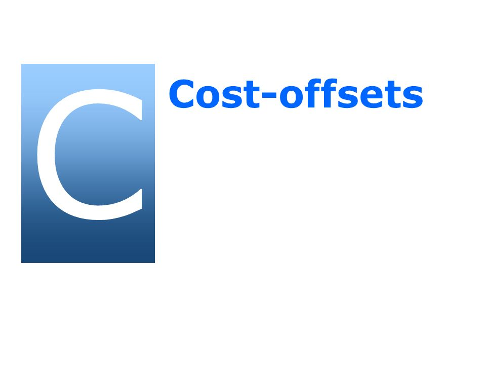 C Cost-offsets 31