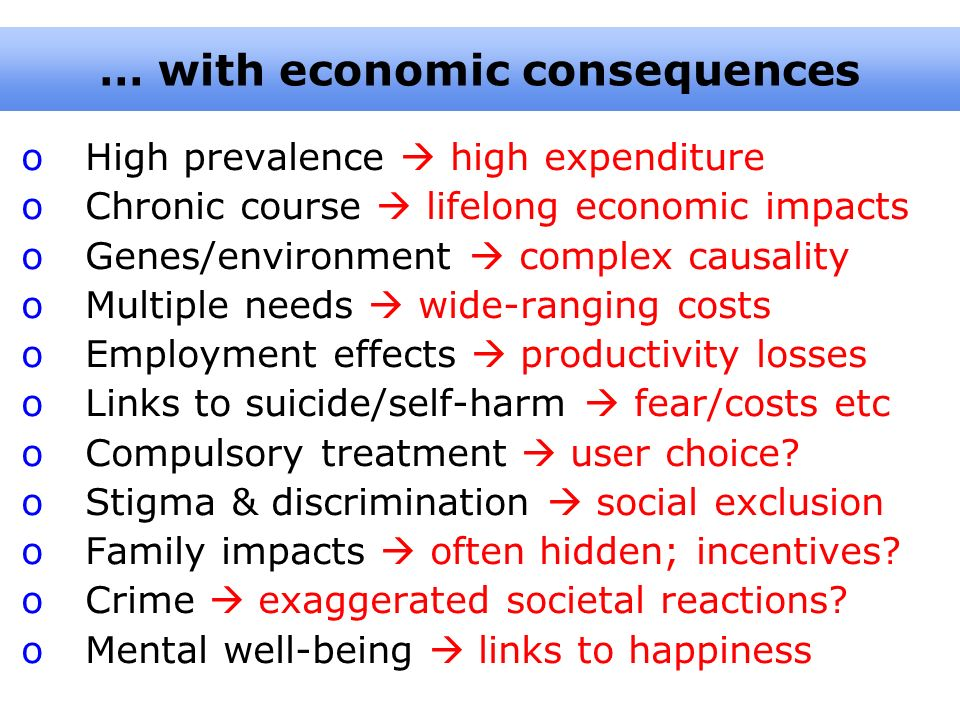 … with economic consequences