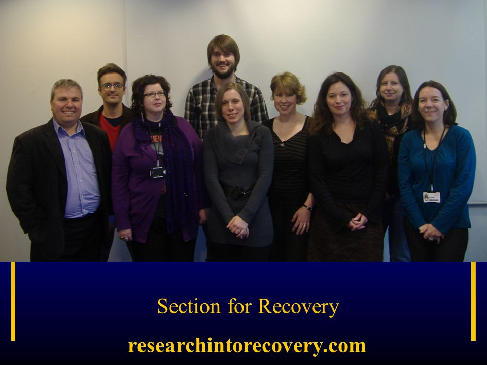 Section for Recovery researchintorecovery.com