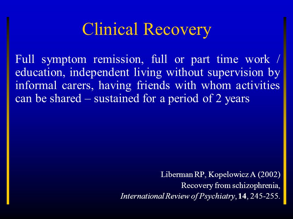 Clinical Recovery