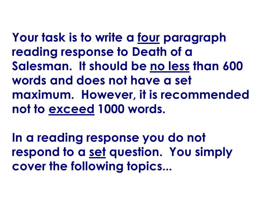 English 536 reading response mr tatnell ppt download for Does rsvp mean you have to reply