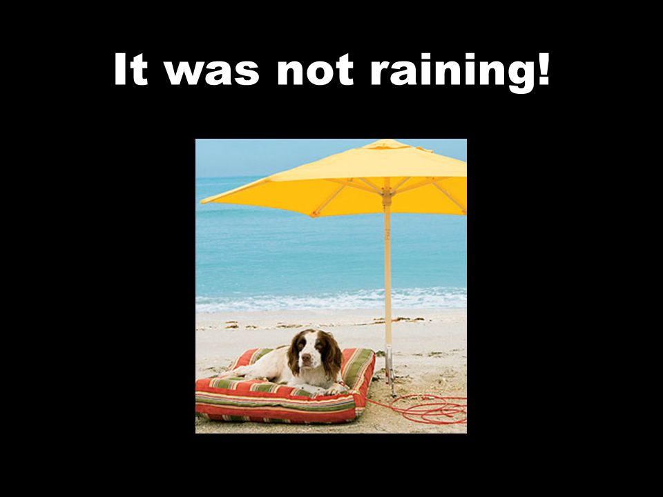 It was not raining!