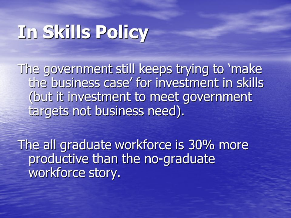 In Skills Policy