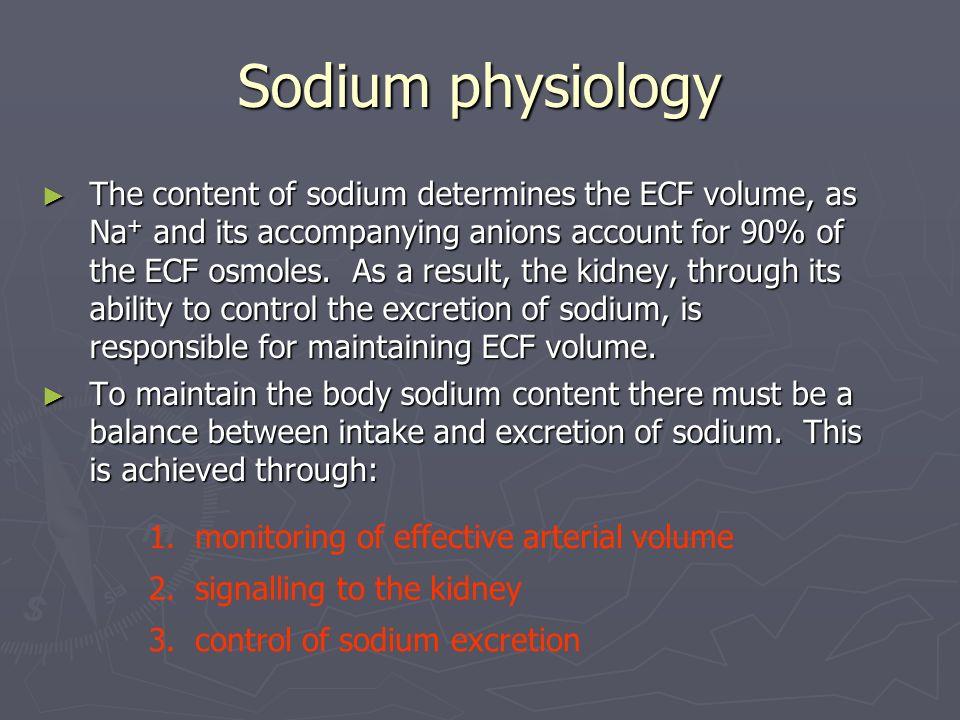 Sodium physiology