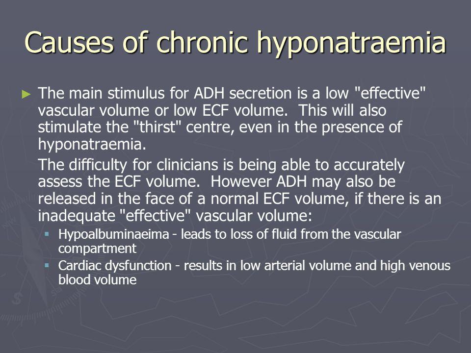 Causes of chronic hyponatraemia