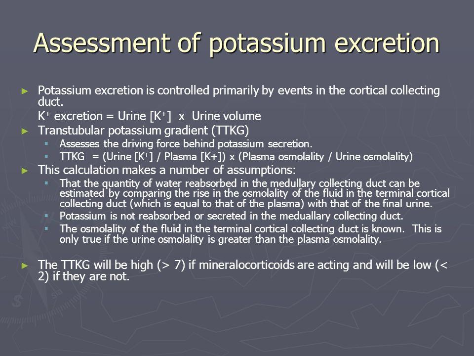 Assessment of potassium excretion