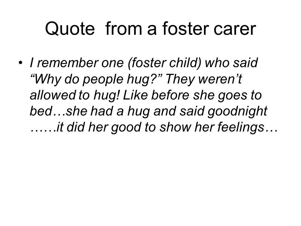 Quote from a foster carer