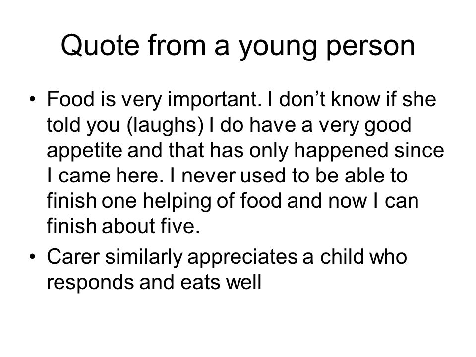 Quote from a young person