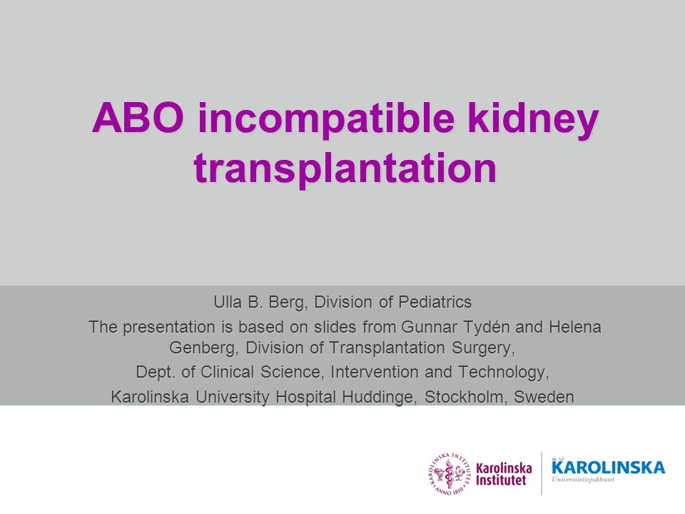 ABO incompatible kidney transplantation
