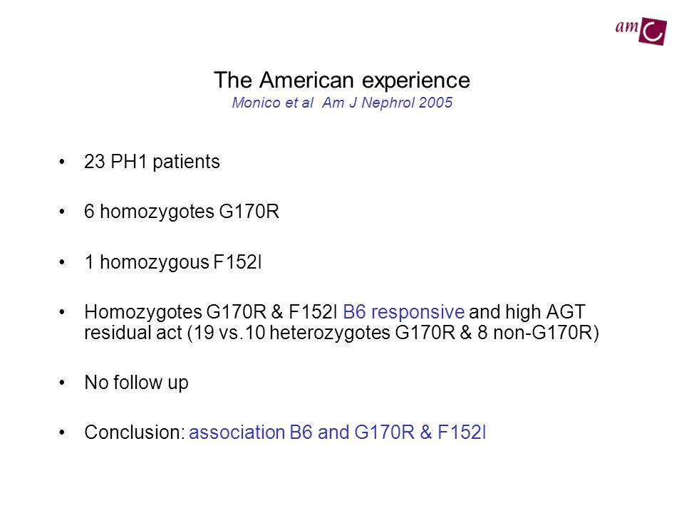 The American experience Monico et al Am J Nephrol 2005