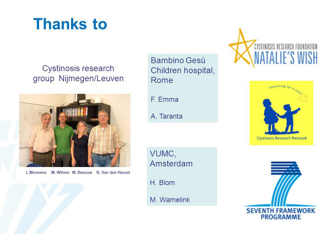 Cystinosis research group Nijmegen/Leuven