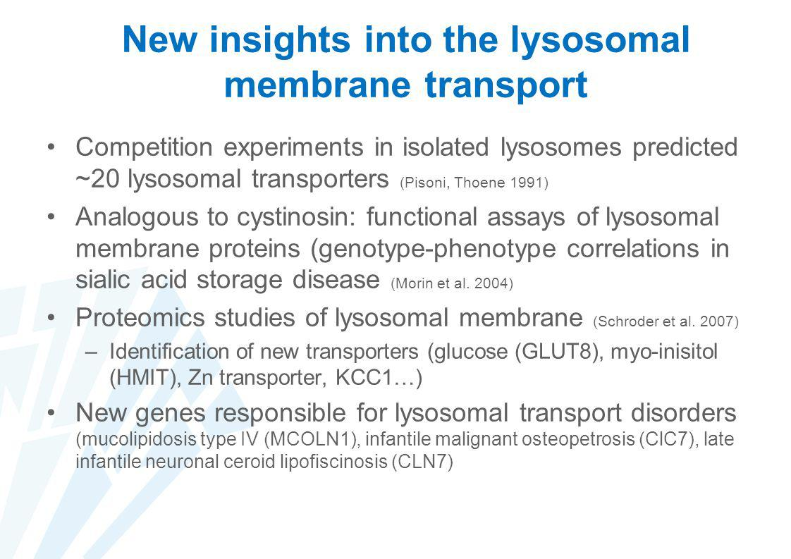 New insights into the lysosomal membrane transport