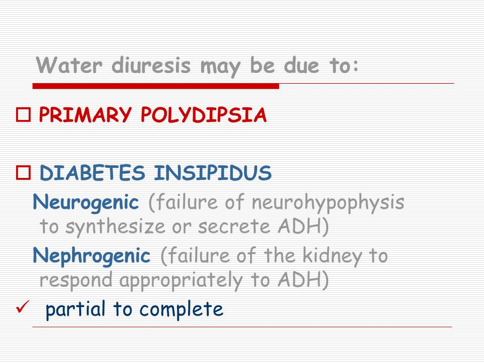 Water diuresis may be due to: