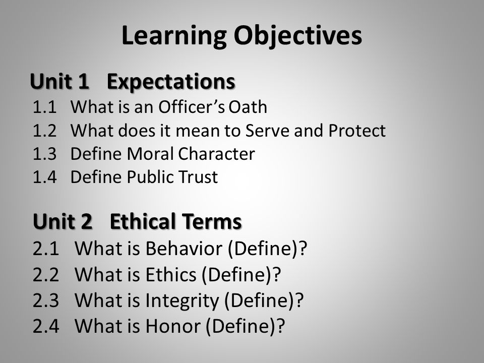 unit 4 part 1 learning objectives The following learning outcomes: 1 set business aims and objectives  after i'd done part of this unit, we  4 1 set business aims and objectives.