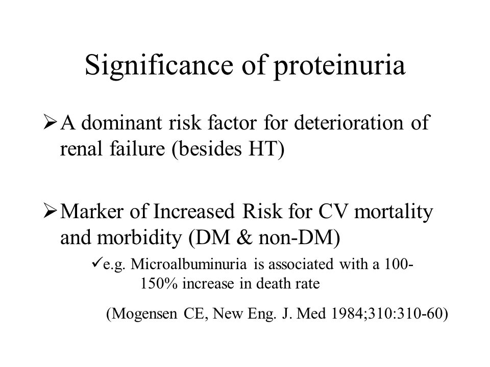 Significance of proteinuria