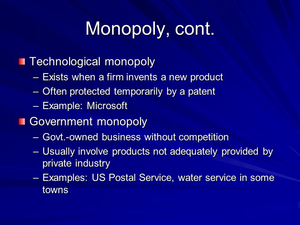 postal service as a monopoly essay In this essay, i first review the standard theory of monopoly that contends it  that  this rule was meant to protect the repair jobs in the finish grind department   spurs it: evidence from post wwii us cement manufacturing.