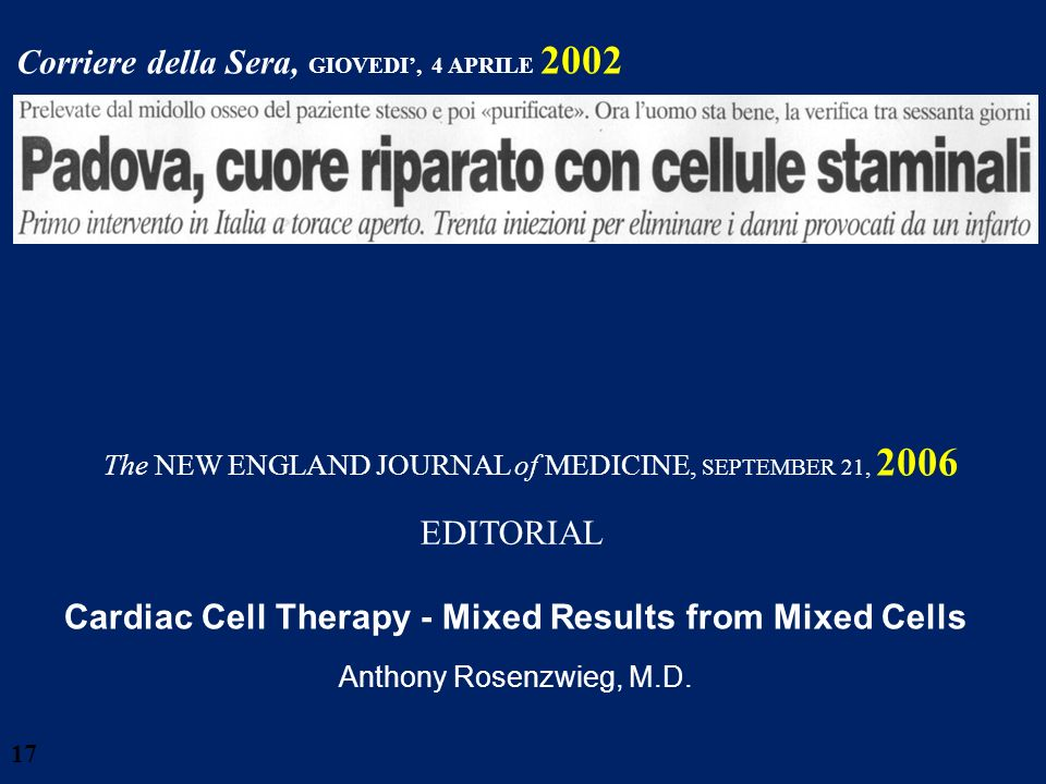 Cardiac Cell Therapy - Mixed Results from Mixed Cells