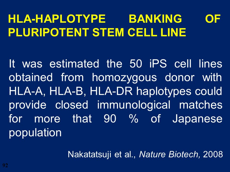 HLA-HAPLOTYPE BANKING OF PLURIPOTENT STEM CELL LINE