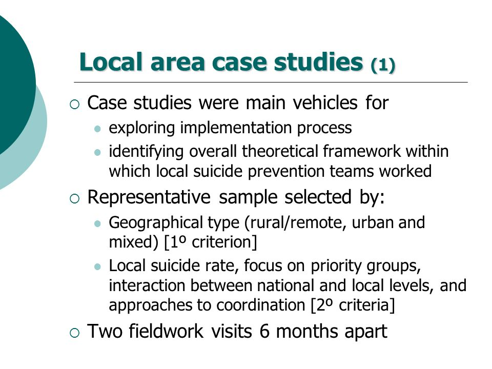 Local area case studies (1)