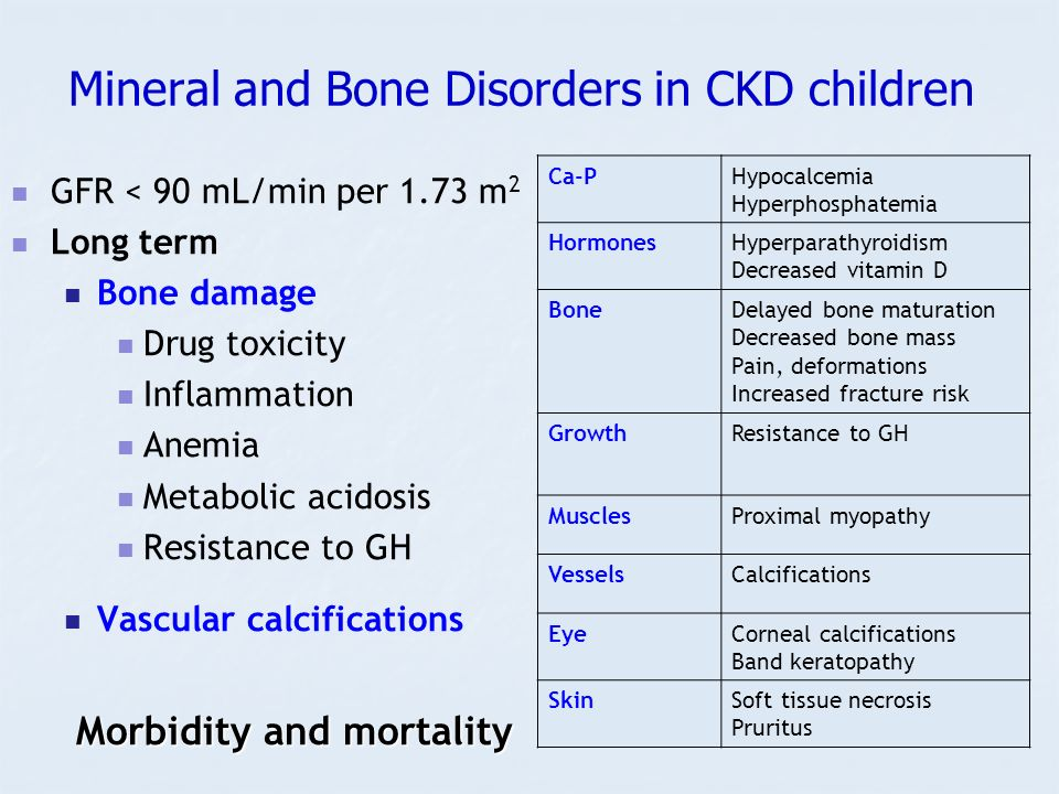 Mineral and Bone Disorders in CKD children